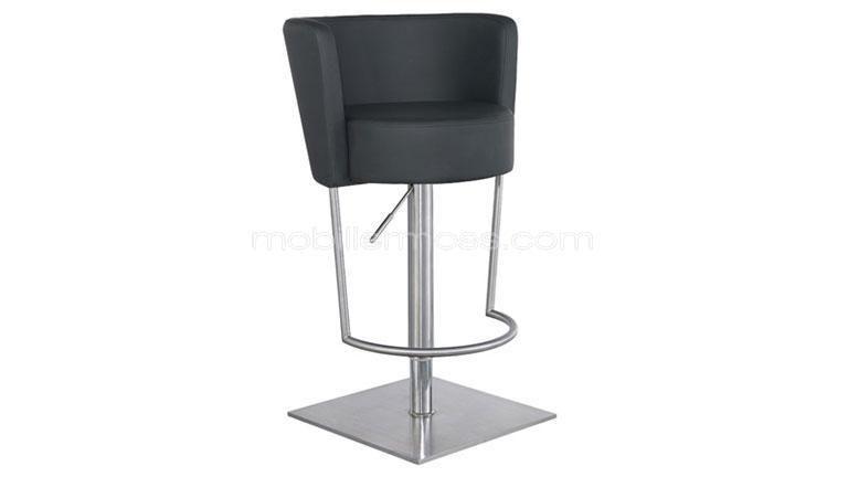 Tabouret en simili et inox bross hauteur assise 64 90 cm ankara tabouret bar design bar - Tabouret hauteur assise 90 cm ...