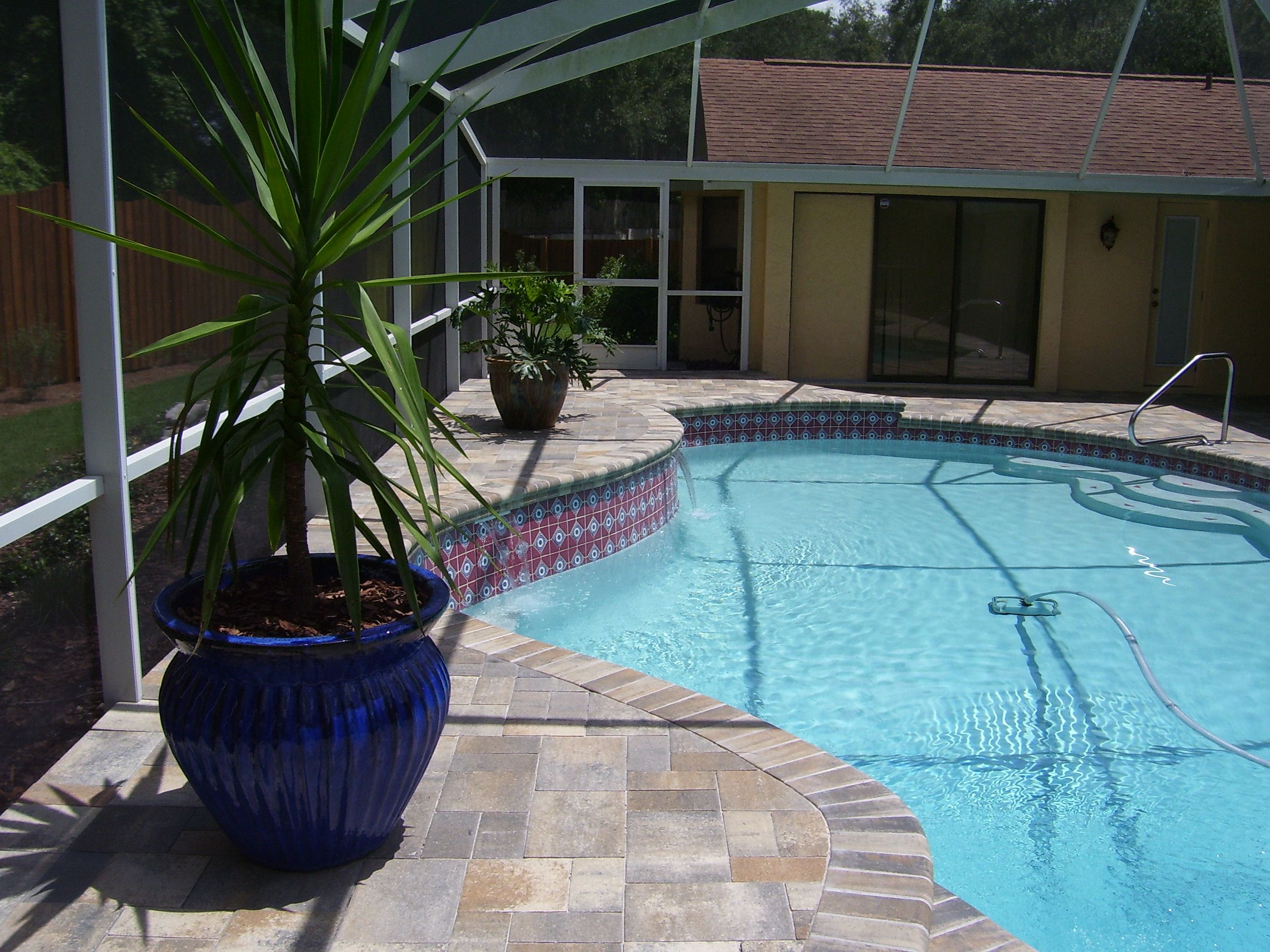 Brick Paver Pool Deck Makes The Pool Deck Look So