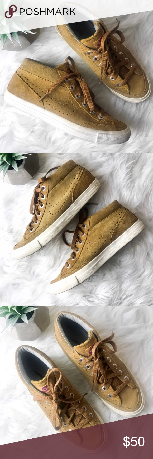 huge discount abd05 29739 Nike Suede Go Chukka Hi-Top Sneakers Gently used with some signs of wear on  the sides of the bottoms of the sneakers (which can easily be cleaned.)  Women s ...