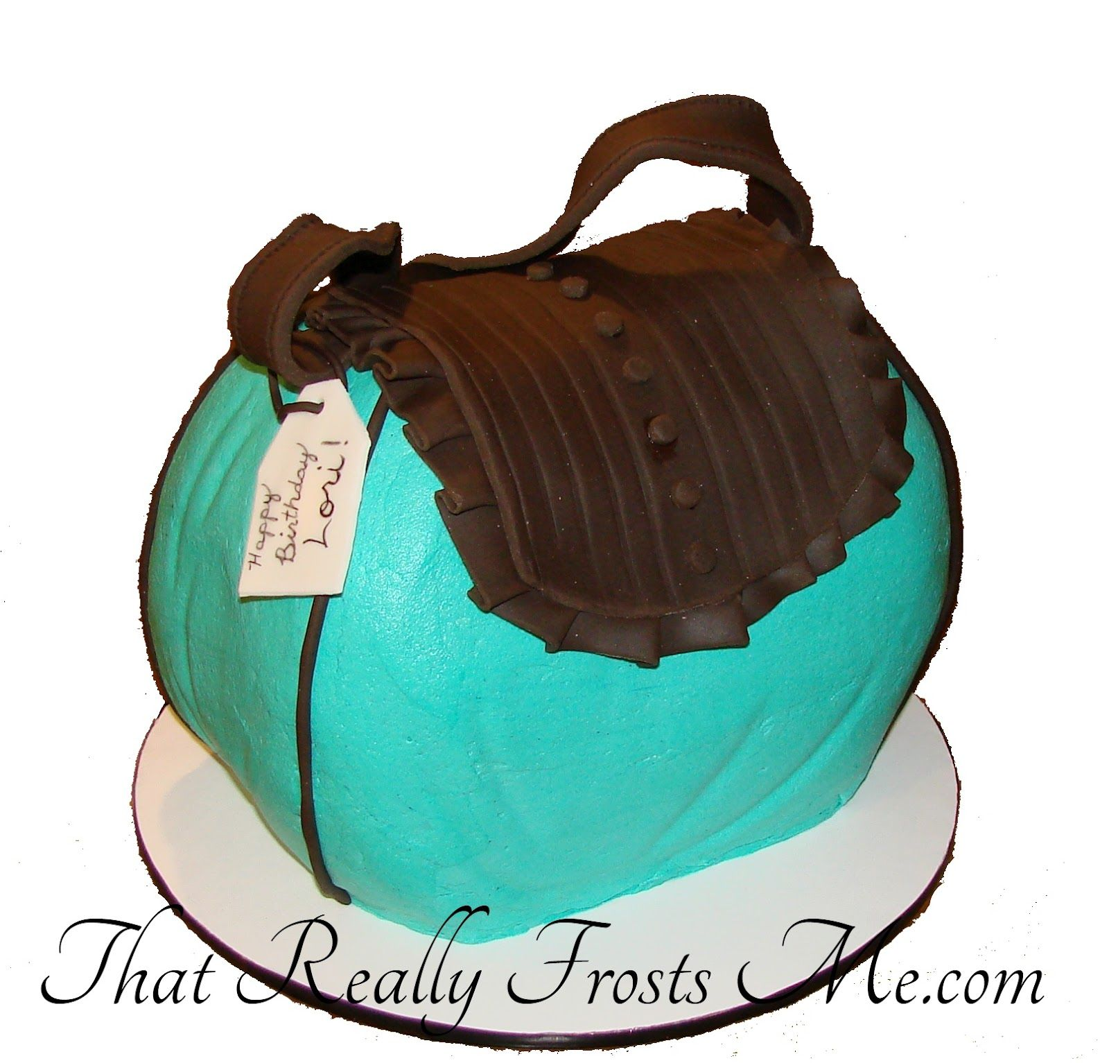 That Really Frosts Me Turquoise And Leather Purse Cake Tutorial