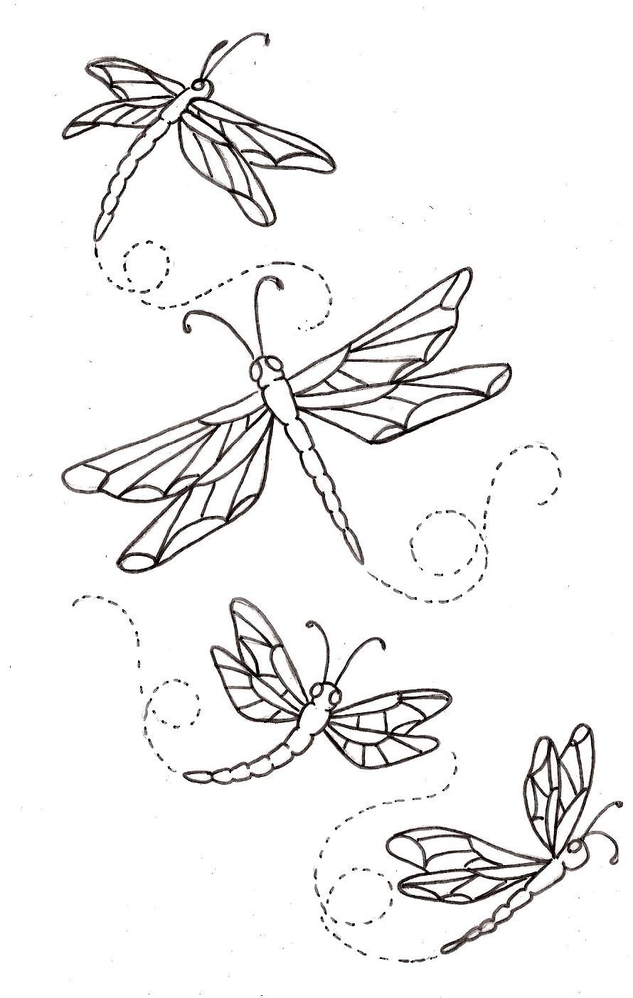 Coloring in dragonflies - Dragonflies Maybe Stamping Or Woodburning