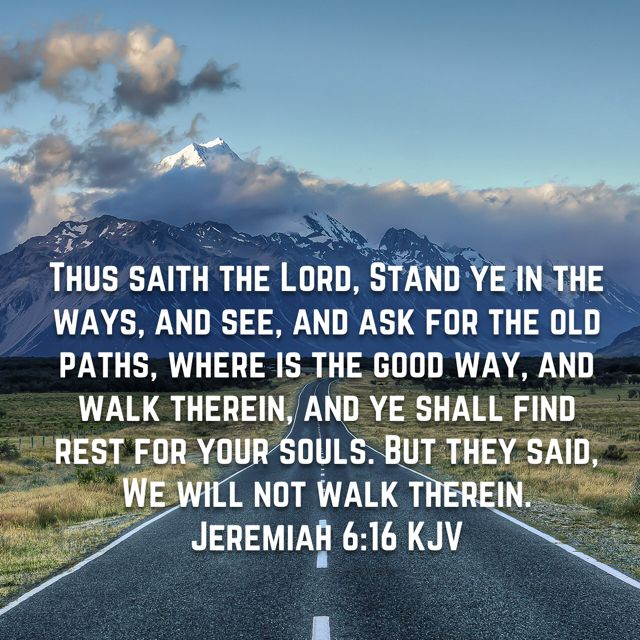 Jeremiah 6 16 King James Kjv Kjv Jeremiah 6 King James Bible