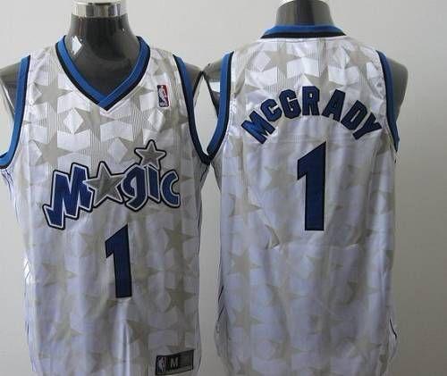 bba9c451cd2 Magic  1 Tracy Mcgrady White Star Limited Edition Stitched NBA Jersey