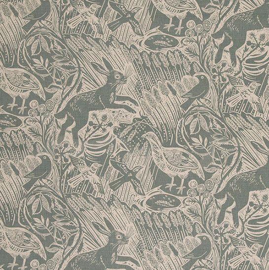 Home Wallpaper Pattern harvest hare wallpaper (mark hearld, st jude) via helpful home