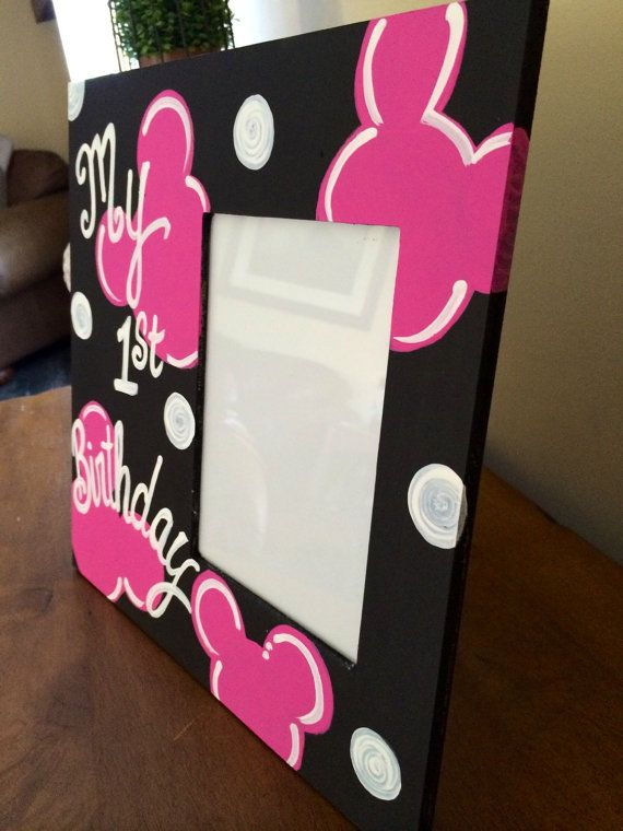 Minnie Mouse Picture Frame Or Mickey Mouse By