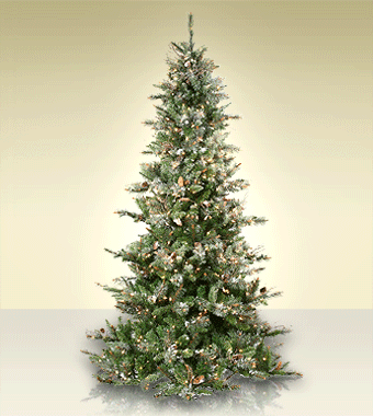 Frosted Virginia Pine artificial Christmas trees. http://www.treetime.com - Pin By Treetime Christmas Creations On Stunning Christmas Trees