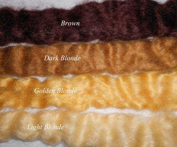 Brown - Mohair Doll Hair - hand dye - for Art Dolls OOAK $9 US
