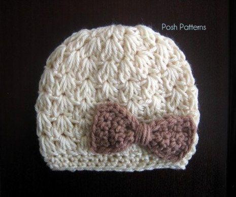 Crochet PATTERN - Crochet Bow Hat Pattern - Crochet Pattern Hat ...