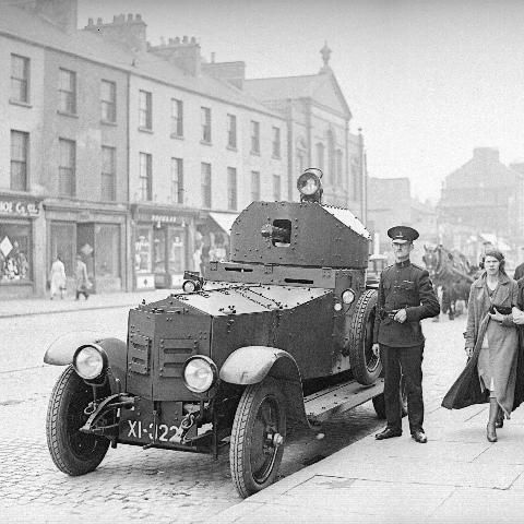 Rolls Royce Armoured Car With Royal Ulster Constabulary In York St