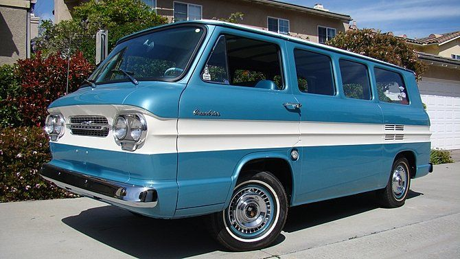 1961 Chevrolet Corvair Greenbrier Van Chevrolet Corvair Mini Van Chevrolet
