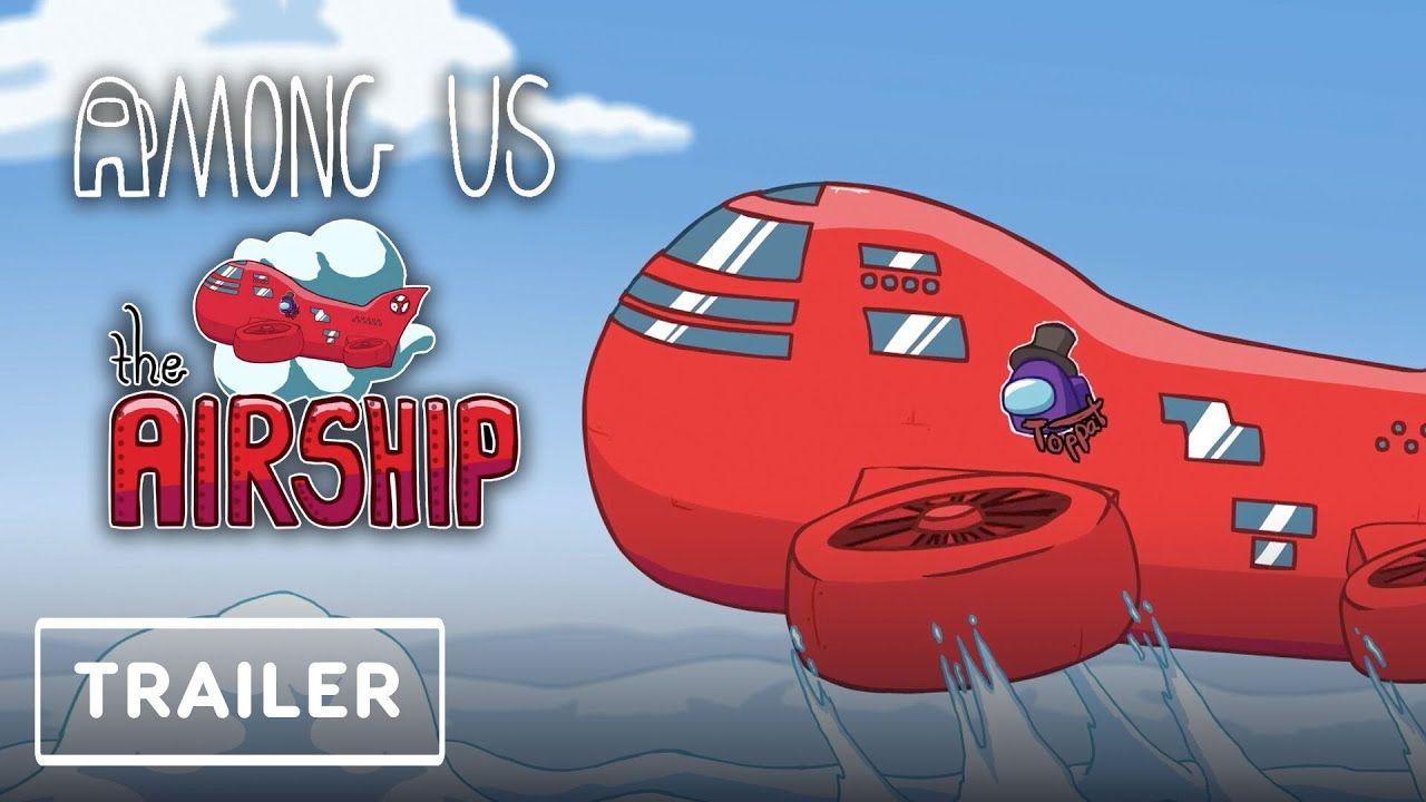 Among Us Airship Map Reveal Trailer Game Awards 2020 Youtube In 2021 Airship Map Godzilla Vs
