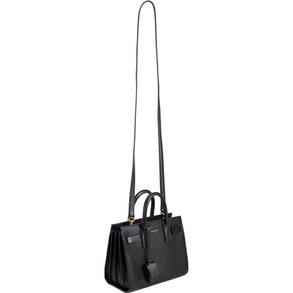 Saint Laurent Mini Sac De Jour (25.780 ARS) ❤ liked on Polyvore featuring bags, handbags, purses, yves saint laurent, black mini bag, black bag, mini bag and yves saint laurent purses