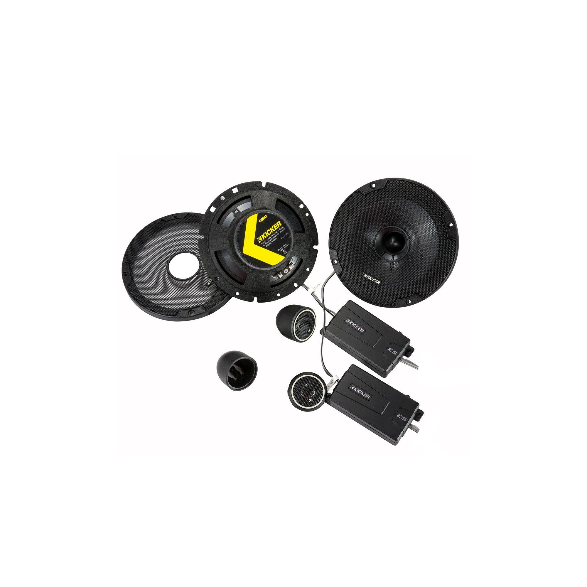 Kicker 46CSS674 CS-Series 6-3/4 2-Way Component Speakers, Black #componentspeakers