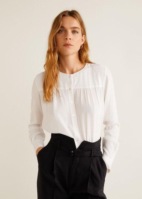1cea8e830 Blusa fluida crepé - Camisas de Mujer en 2019