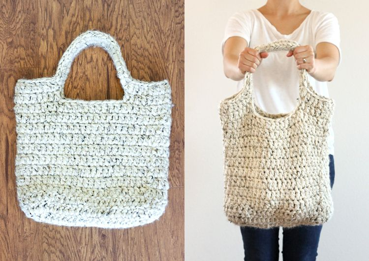 FREE crochet pattern : sturdy market tote // Delia Creates | Tejido ...