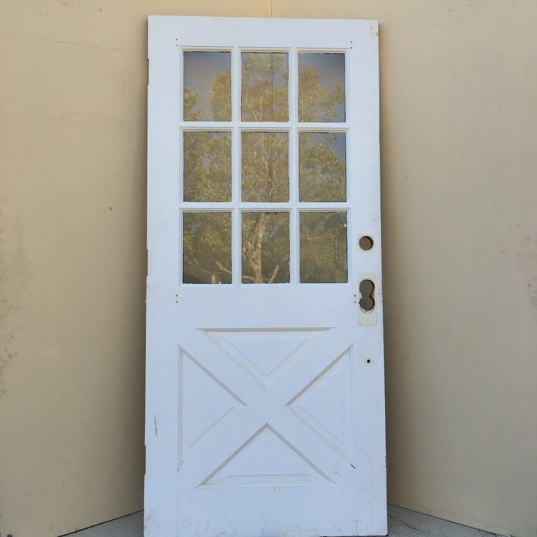 Beau 9 Lite Crossbuck Exterior Door   Fiberglass Exterior Doors Have The Custom  Capacities Of Finish, Glass, Decorative Metals, Carvings, And Stain.