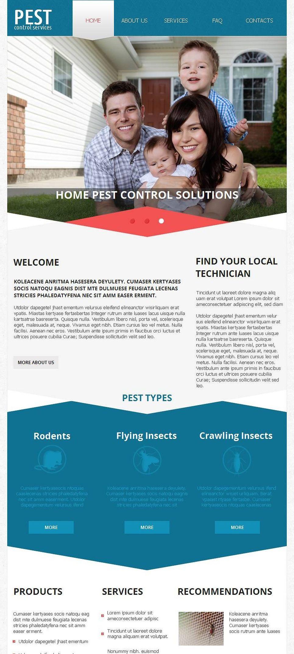 Pest Control Facebook Html Cms Template 45929 Pest Control Logo Pest Control Pests