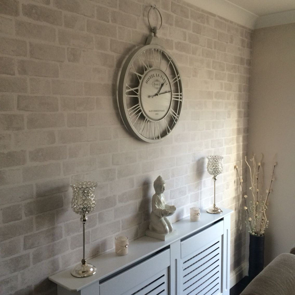 Dining room, next brick wallpaper … | Pinteres…