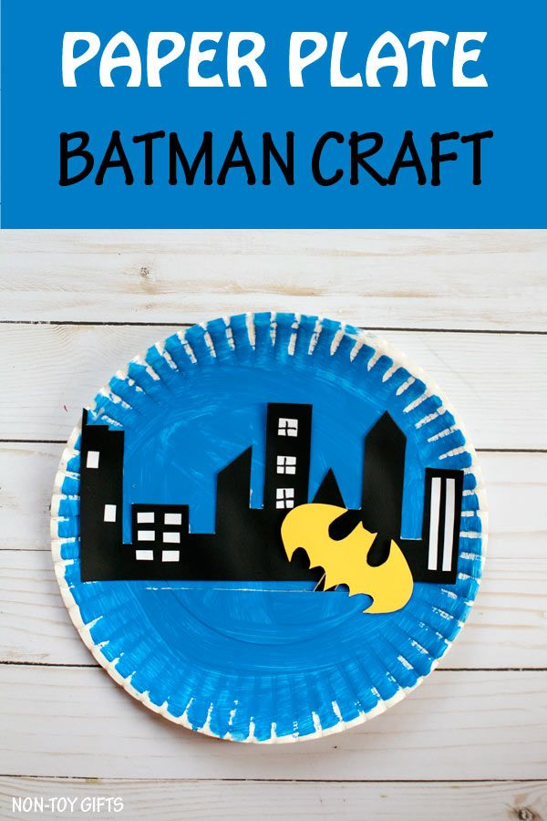 Kids who are into superheroes will love making this paper plate Batman craft that moves to  sc 1 st  Pinterest & Kids who are into superheroes will love making this paper plate ...