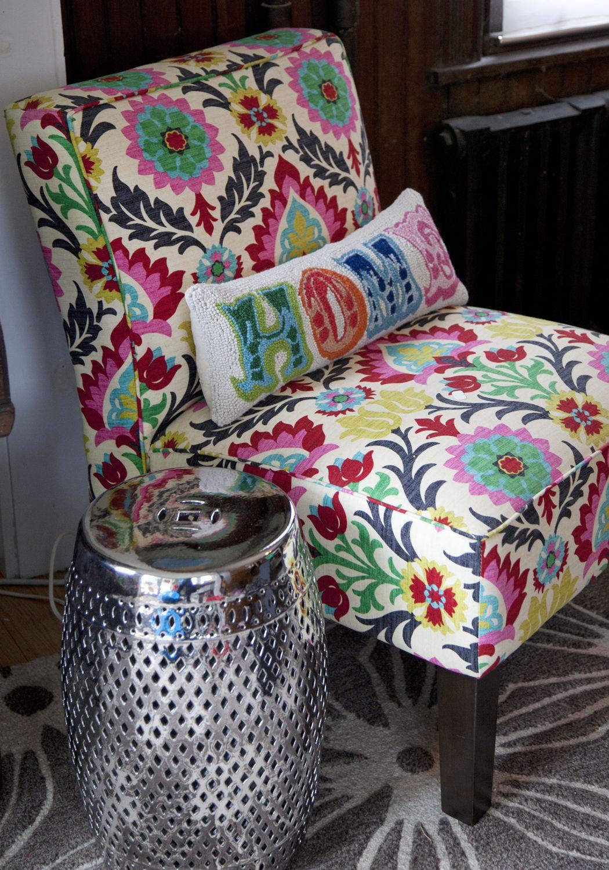 Slipper Chair In Waverly Santa Maria Desert House Decor