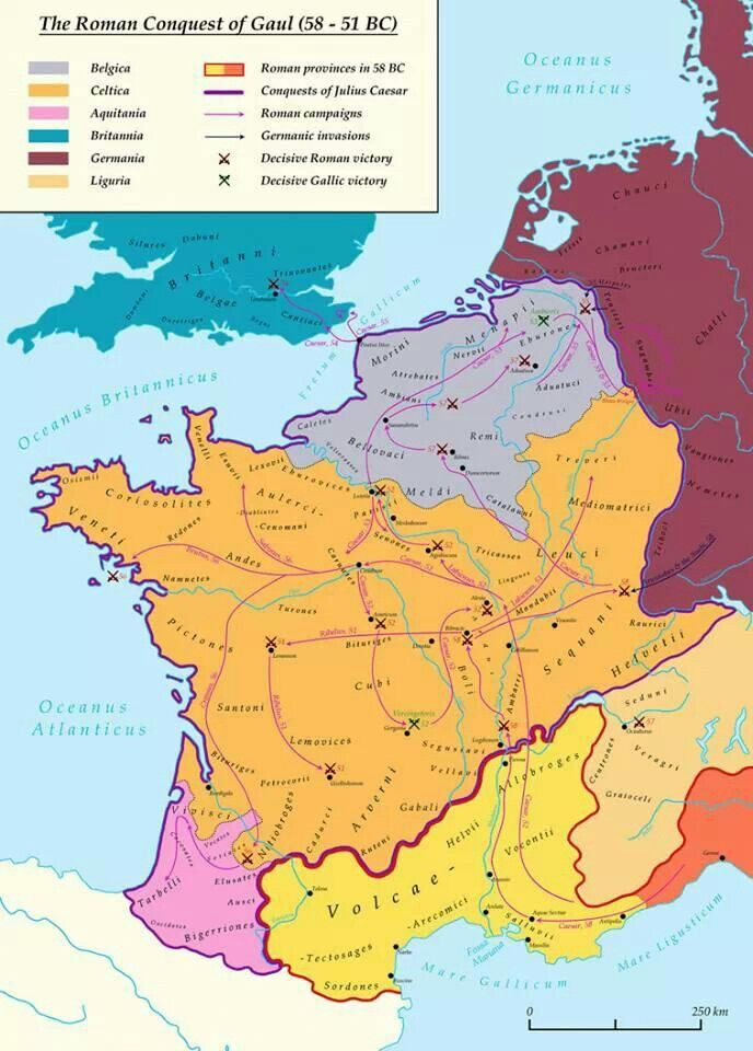 Gaul World Map.The Roman Conquest Of Gaul 58 51 B C Maps Of The Ancient World