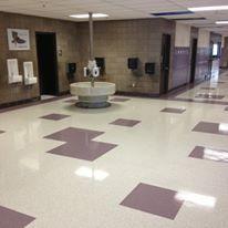 Tatanka Elementary School Buffalo Mn 2014 New Vct Floor In Hallways School Floor Flooring Elementary Schools