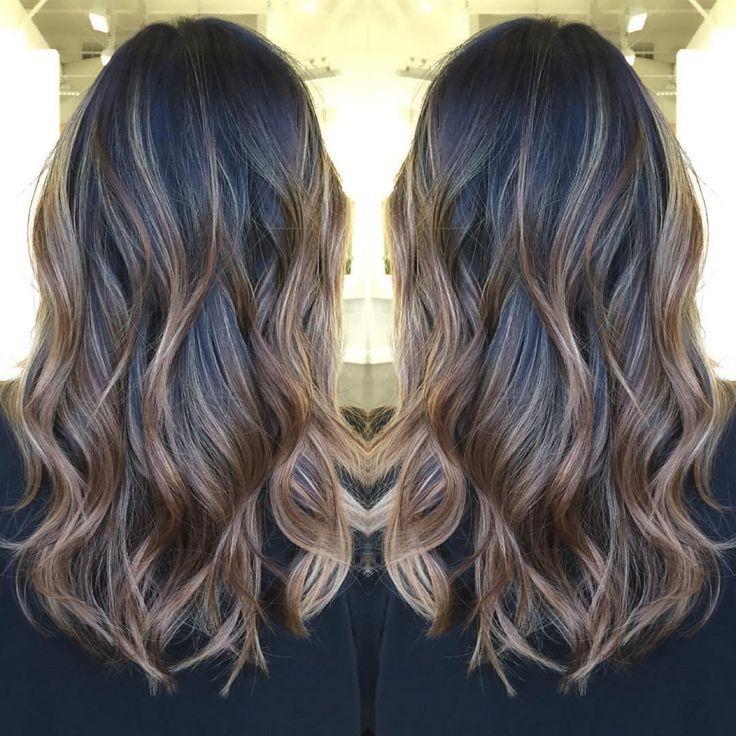 Light Brown Balayage For Black Hair Brown Hair Balayage Hair Color Flamboyage Balayage Hair