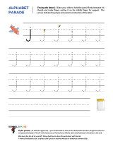 lowercase j letter tracing worksheet with easy to follow arrows showing the proper formation of. Black Bedroom Furniture Sets. Home Design Ideas