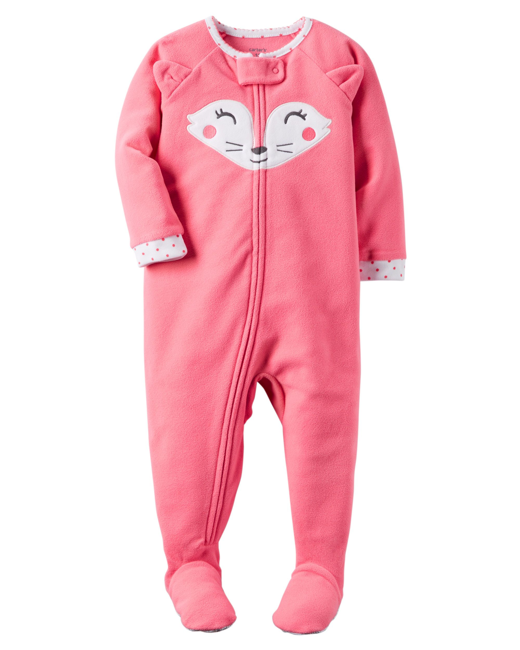 a12e2d775 Baby Girl 1-Piece Fleece PJs