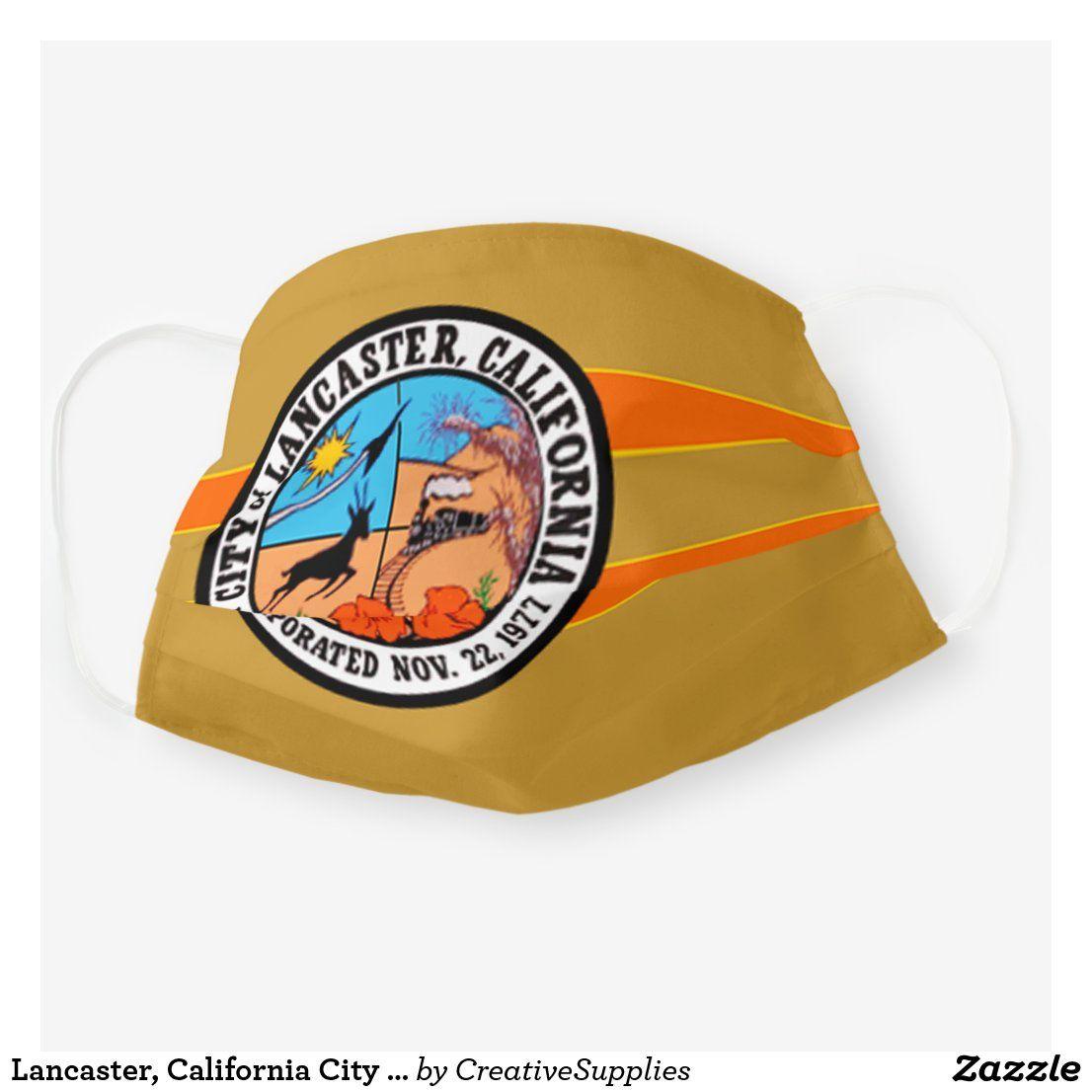 Lancaster, California City Flag Cloth Face Mask Zazzle