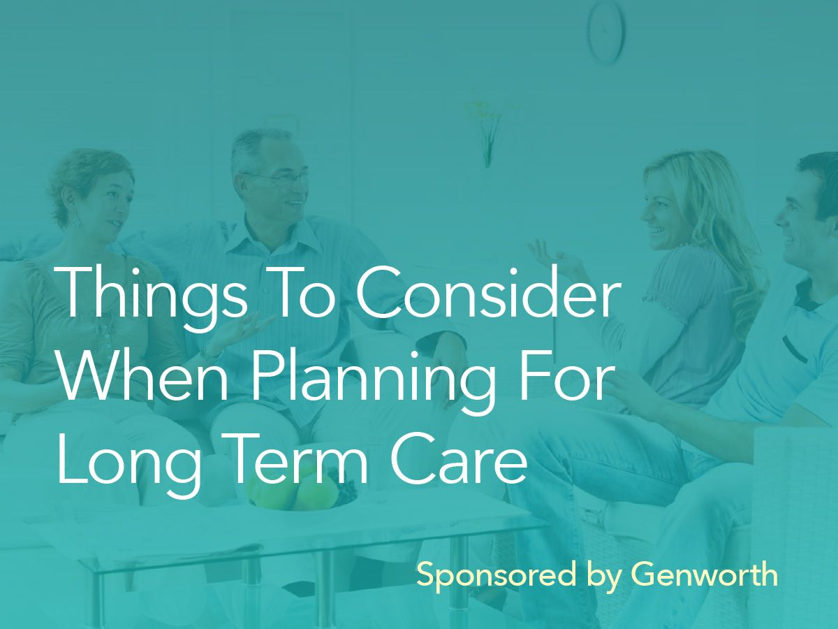 Planning for long term care? Here are some things to