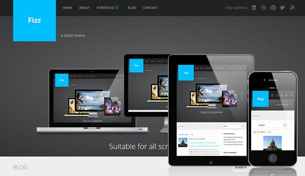 fizz free premium wordpress theme blog layout php