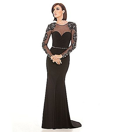 afe974c89938 Lasting Moments IllusionNeckline Mermaid Gown #Dillards | gowns ...