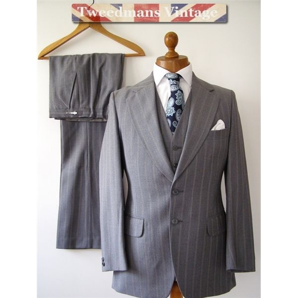 1970's vintage 3 PIECE suit mens 38R 31W | Hochzeitsmode