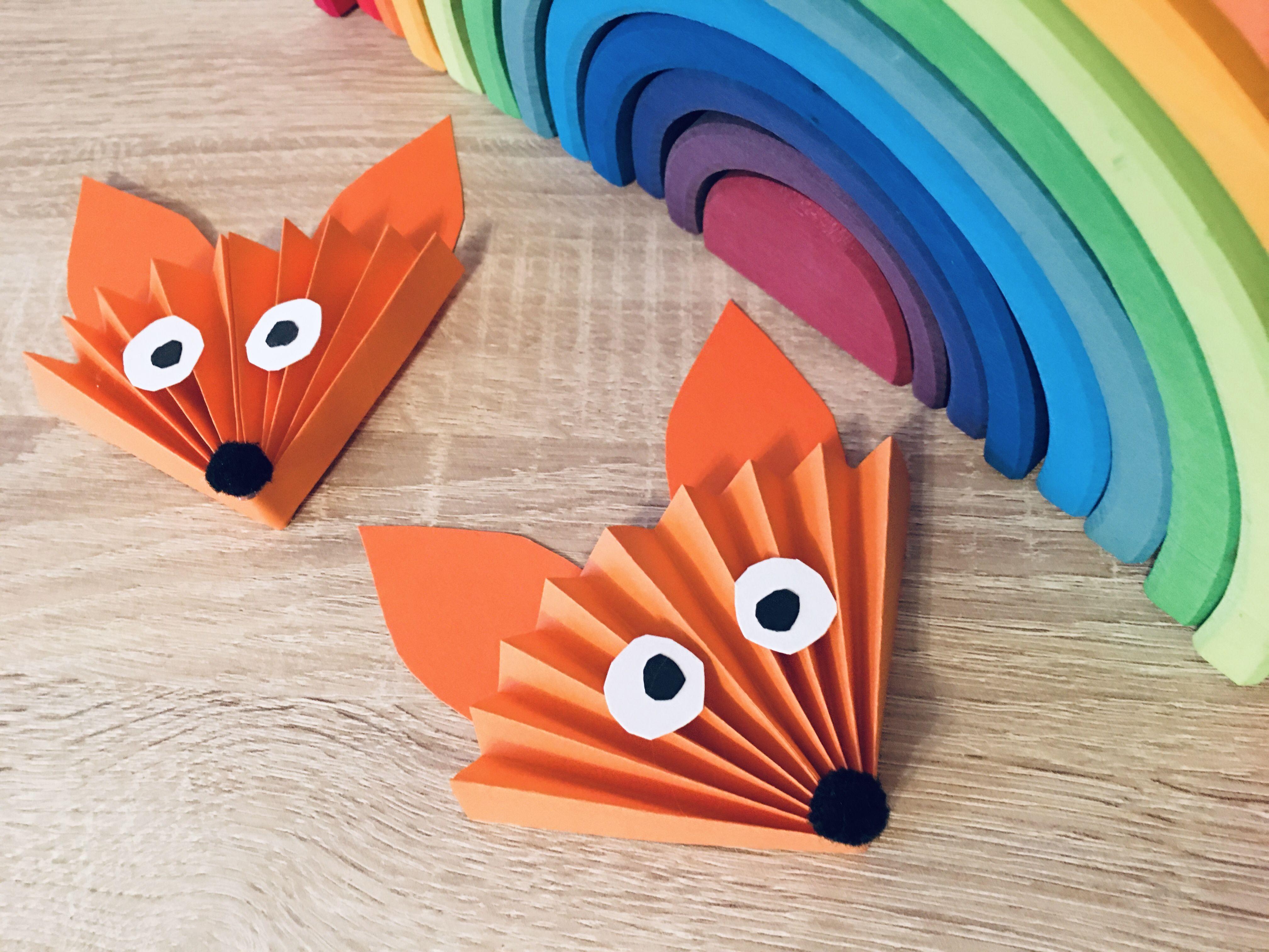Fuchs aus Papier basteln – Basteln im Herbst | Der Familienblog für kreative Eltern