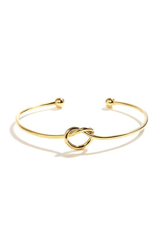 Let S Tie The Knot Gold Bracelet Gold Knot Bracelet Knot