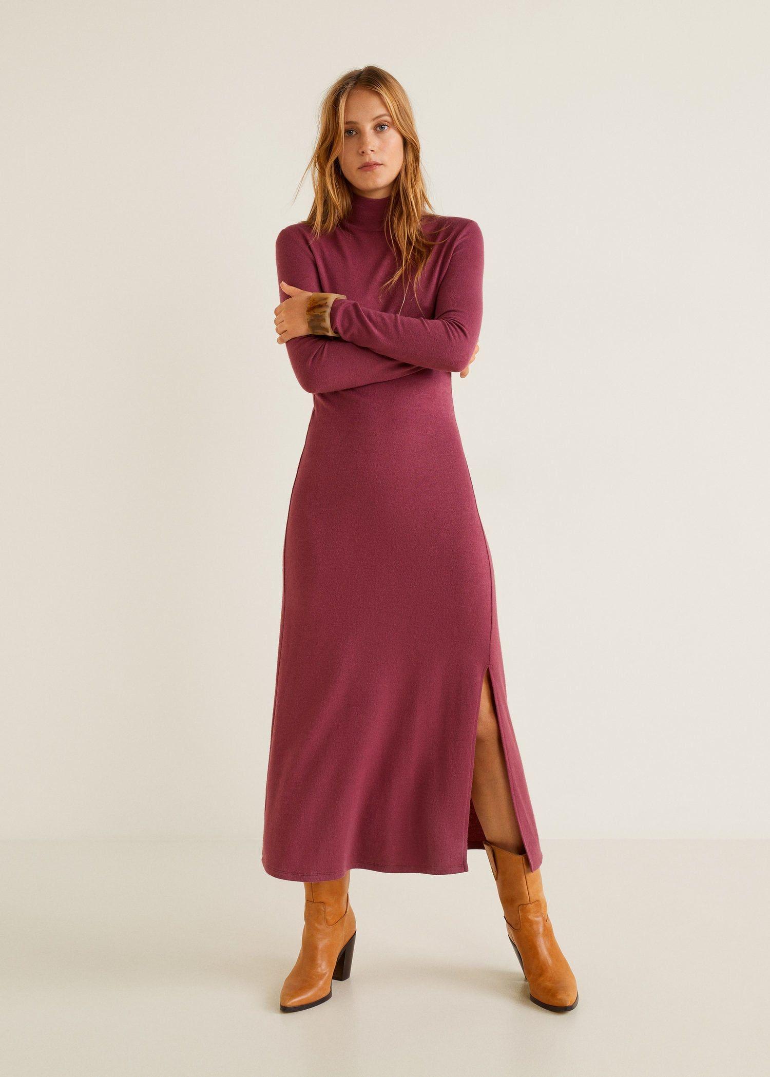 Langes strickkleid - Damen   Kleider für frauen, Damen ...