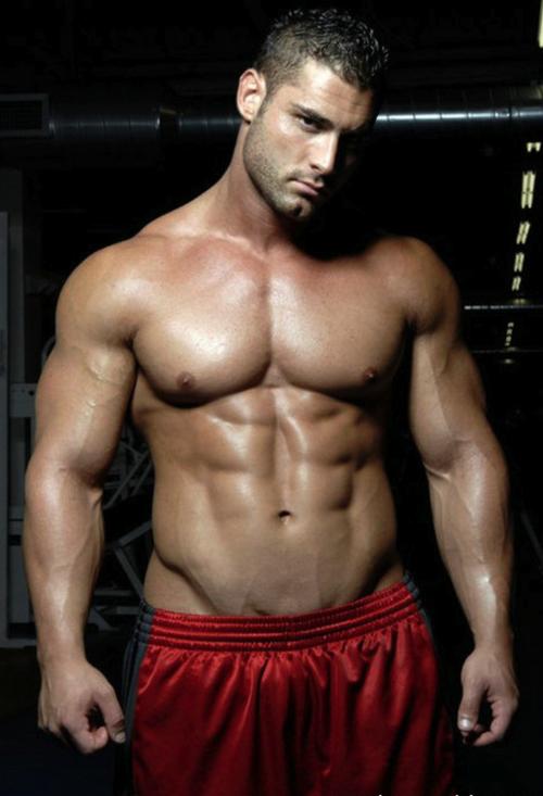 Sexy muscular gay men