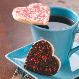 Chocolate-Frosted Heart Cookies Recipe from Taste of Home