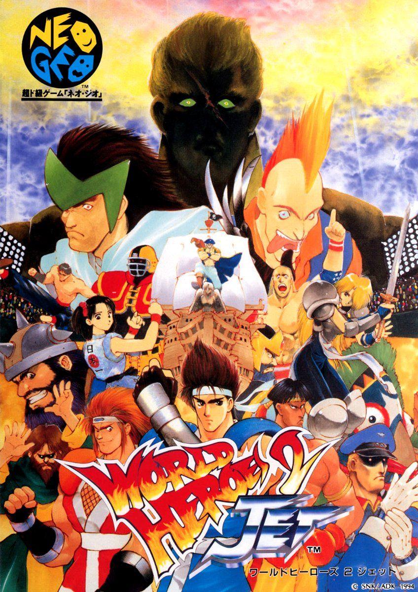 World Heroes 2 Jet Flyer Adk Snk Anime Anos 90 Manga