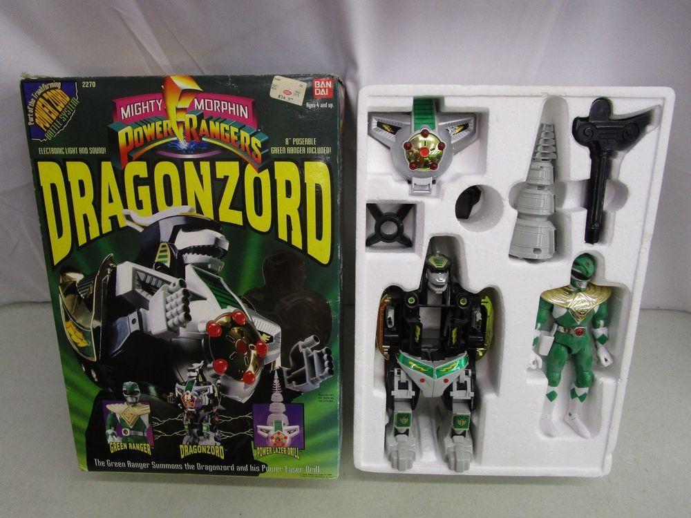 Power Rangers Legacy Green Dragonzord Free Shipping