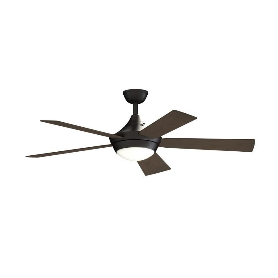 Fanimation Studio Collection Aire Drop 52 In Antique Bronze Led Indoor Ceiling Fan With Light Kit And Remote 5 Blade Lowes Com Ceiling Fan With Light Fan Light Ceiling Fan