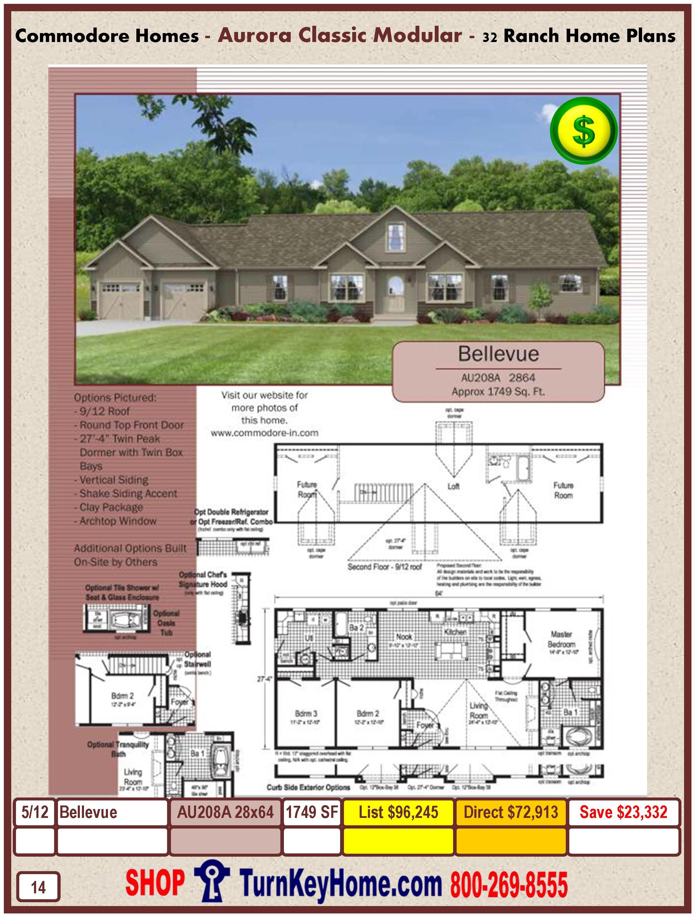 Modular.Commodore.Homes.Aurora.Clic.Ranch.Home.Series.Catalog ... on commodore mobile home pricing, single wide homes floor plans, modular home floor plans,