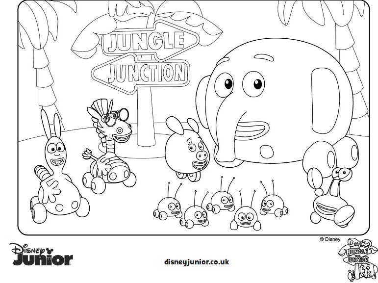 Dibujos para colorear Jungle Junction Jungla Sobre Ruedas. Pincha ...