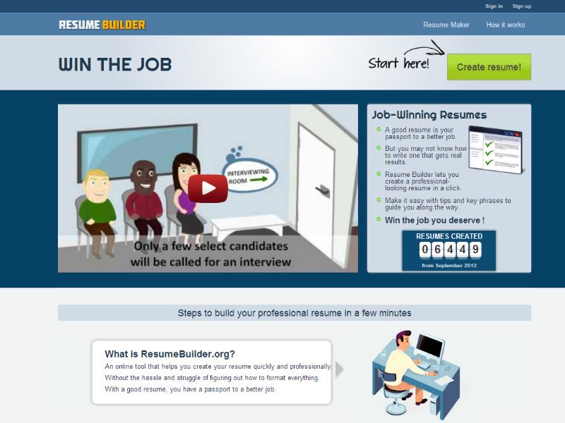 Resume Builder (With images) Resume builder, Resume