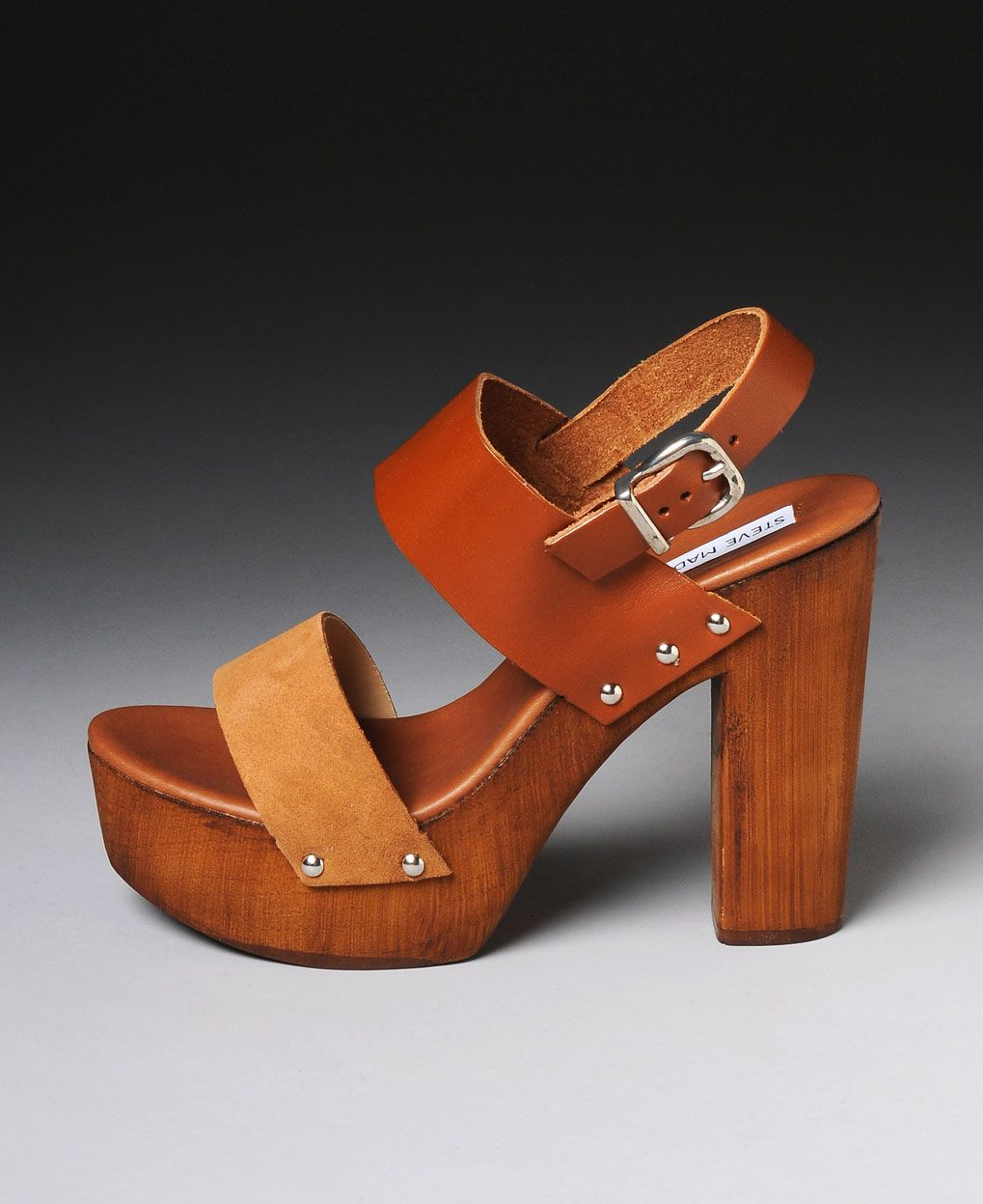 82d350be50d Steve Madden  Oaklee  Wooden Platform Sandals