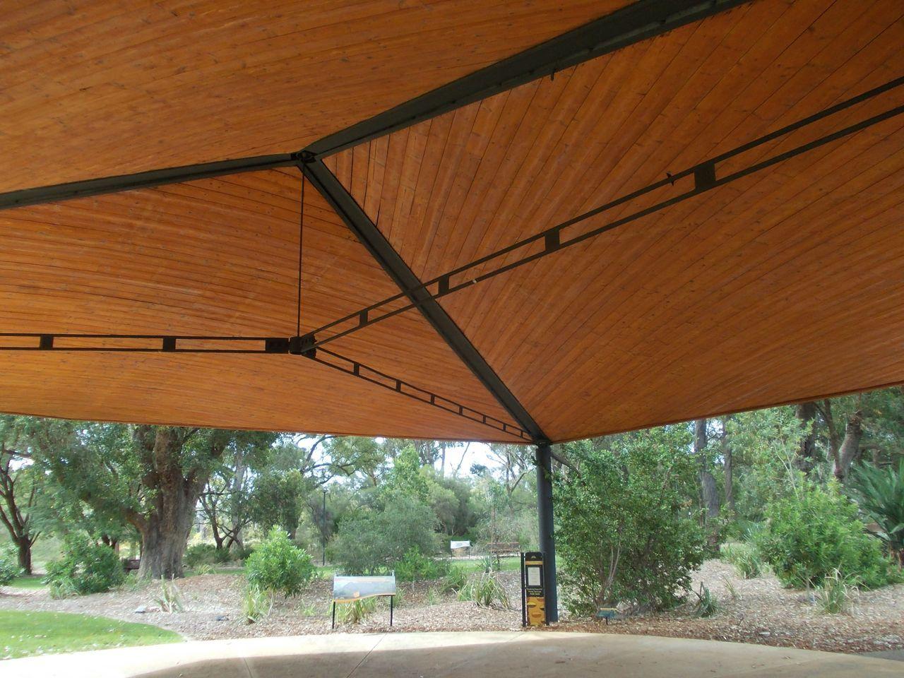timber/steel canopy, hung truss, perth | arq estructura | Pinterest