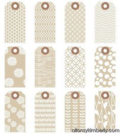 Free printable gift tags many different styles i love these free printable gift tags many different styles i love these patterned kraft tags negle Choice Image
