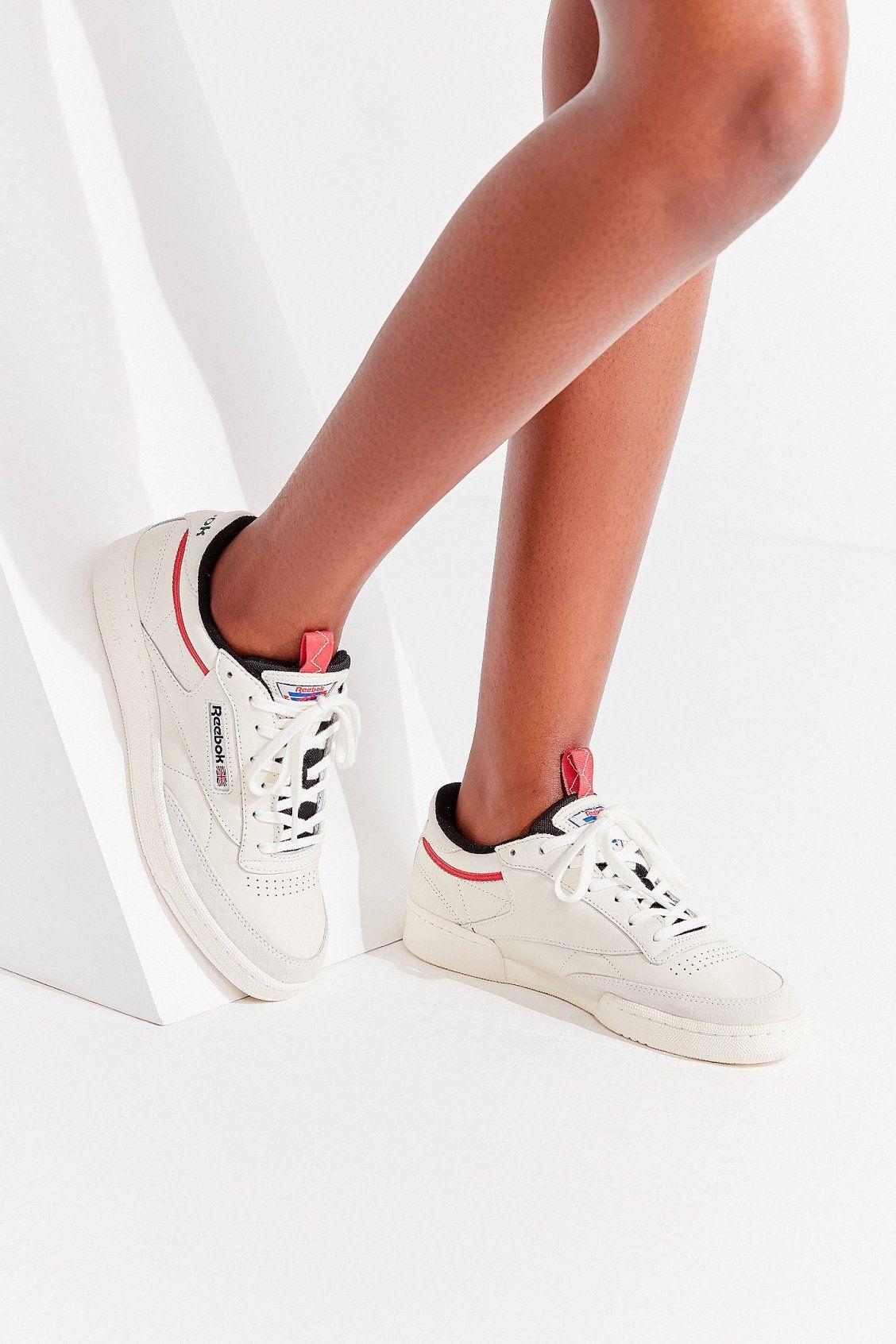 Reebok Club C 85 Rad Sneaker Leather Shoes Woman Womens Fashion Shoes Sneakers