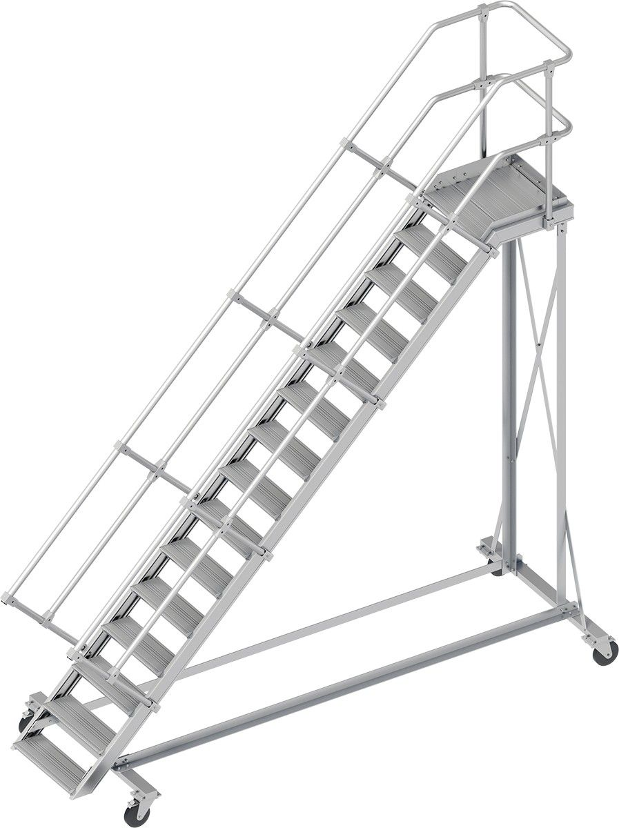Wartungsbuhne 45 15 Stufen 600 Mm Breit Alu Buhne Mit Stufenbreite 600 Mm Gtardo De Stufen Handlauf Podesttreppe